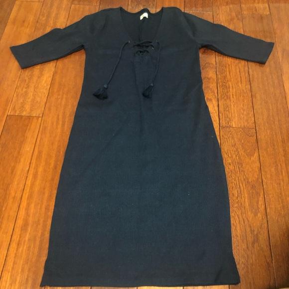 Hollister Ribbed Navy Dress
